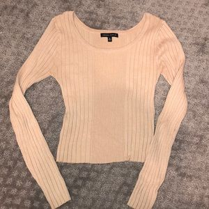 Kendall and Kylie scoop cropped sweater